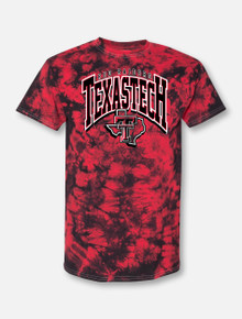 """Texas Tech """"All that 90s"""" Arch Over Pride Tie Dye T-Shirt"""