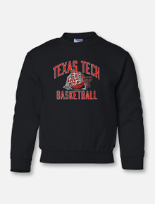 "Texas Tech ""Rip it"" Basketball YOUTH Crew Sweatshirt"