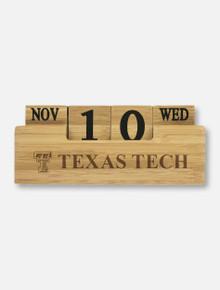 Texas Tech Double T Bamboo Perpetual Calender