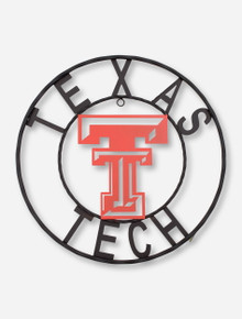 Texas Tech Wrought Iron Sign with Red Double T