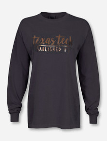 Texas Tech Red Raiders One Script Foil Long Sleeve T-Shirt