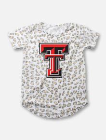 Texas Tech Double T Leopard Burnout TODDLER Tee