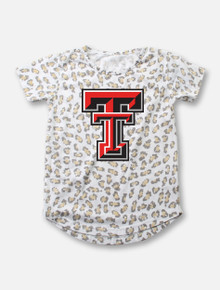 Texas Tech Double T Leopard Burnout YOUTH Tee