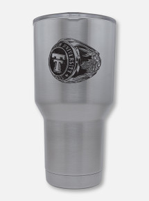 "Texas Tech Double Walled Alumni ""Ring"" 30oz Silver Travel Tumbler"