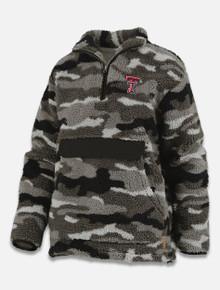 "Pressbox Texas Tech Red Raiders ""Knox"" Camo Sherpa Fleece 1/4 Zip Pullover"