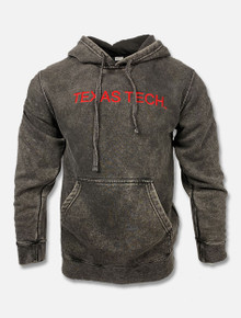 "Texas Tech Red Raiders ""Acid Rock"" Red Embroidered Mineral Wash Hoodie"