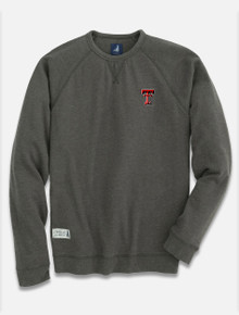 "Johnnie-O Texas Tech Red Raider Double T ""Pamlico"" Crewneck Sweatshirt"