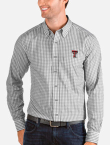 "Antigua Texas Tech Red Raider Double T ""Structure"" Button Down"