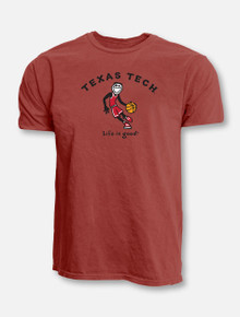 "Blue 84 Texas Tech Red Raider ""Life Is Good"" Basketball T-Shirt"