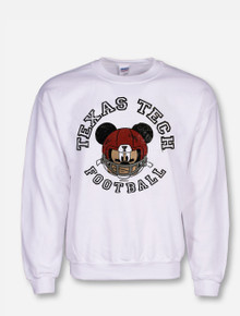 "Disney X Red Raider Outfitter "" Helmet Mickey"" Crew"