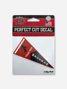 """Texas Tech Red Raider """"Pennant"""" Throwback Perfect Cut Decal"""