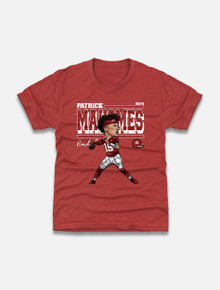 "Texas Tech Red Raiders Patrick Mahomes ""Cartoon"" YOUTH T-Shirt"