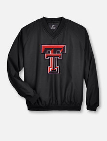 Texas Tech Double T Twill V-Neck Windbreaker Pullover