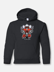 Texas Tech Raider Red Twill YOUTH Hoodie