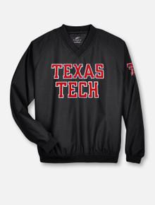 Texas Tech Rugged Football Twill V Neck Windbreaker Pullover