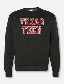 "Texas Tech ""Rugged Football"" Font Twill with Sleeve Print Crew Sweatshirt"