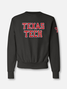 "Champion Texas Tech ""Rugged Football"" Font Twill with Sleeve Print Reverse Weave"