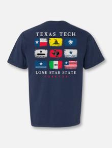 "Texas Tech Red Raiders ""Flags of Texas II"" T-shirt"