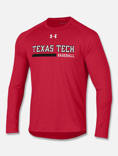 Texas Tech Red Raiders Under Armour Long Sleeve 2018 Baseball Sideline