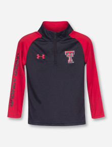 YOUTH Under Armour Texas Tech Double T Quarter Zip Pullover