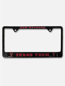 Texas Tech Red Raiders over Texas Tech Black Metal License Plate Frame