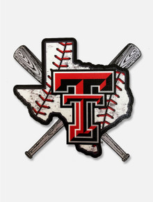 Texas Tech Red Raiders Double T Baseball Pride Crossbat Decal