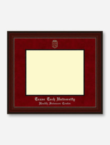 HSC Silver Embossed Cherry Bead Red Suede Diploma Frame T9