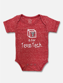 Texas Tech Red Raiders T is for TECH Heathered Onesie