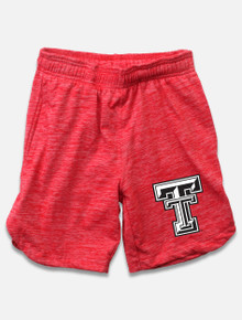 Wes & Willy Texas Tech Red Raiders Double T YOUTH Heathered Basketball Short