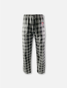 "Boxercraft Texas Tech Red Raiders Double T YOUTH ""Buff"" Black Plaid Flannel Pants"