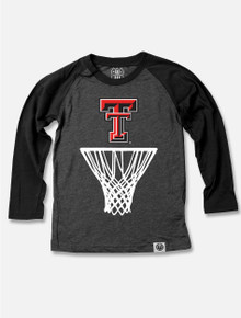 Texas Tech Red Raiders TODDLER Long Sleeve Raglan Basketball Tee