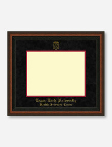 HSC Gold Embossed Mahogany Rope Black Suede Diploma Frame T7