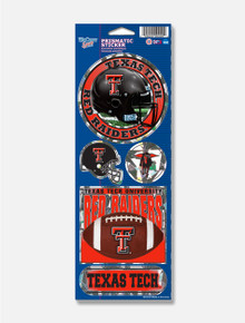 Wincraft Texas Tech Red Raiders Prismatic Sticker Sheet