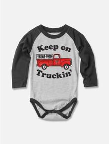 Texas Tech Red Raiders Keep on Trucking INFANT Long Sleeve Onesie