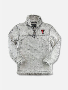 "Boxercraft Texas Tech Red Raiders Double T ""Frost"" YOUTH Sherpa 1/4 Zip Pullover"