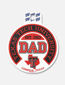 """Texas Tech Red Raider """"Begetter State DAD"""" Decal"""