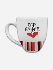 Texas Tech Red Raiders Heart Striped Coffee Mug