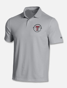 "Texas Tech Red Raiders Under Armour ""Pin Stripe Coach's Scripting"" Polo"