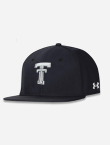 """Texas Tech Red Raiders Under Armour """"Iced Out"""" Black Throwback Flat Bill"""