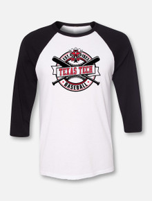"Texas Tech Red Raiders Baseball ""Right Off the Bat"" Raglan"