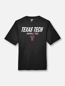 "Texas Tech Red Raiders Double T ""Centerfield"" Baseball T-Shirt"
