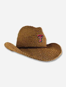 "Texas Tech Red Raiders ""Sahara"" Straw Crushable Cowboy Hat"