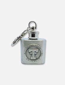 Texas Tech Red Raiders Double T Metal Mini-Flask Keychain