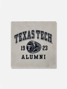 "Texas Tech Red Raiders ""Alumni Ring"" Marble Coaster"