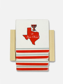 Texas Tech Vs. All Y'All Set of 4 Coasters & Holder