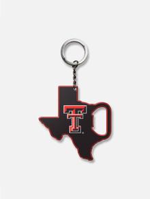 Texas Tech Pride Logo Bottle Opener Keychain