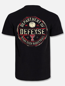 """Texas Tech Red Raiders Basketball Dept Of Defense """"Official Seal"""" POCKETED T-shirt"""
