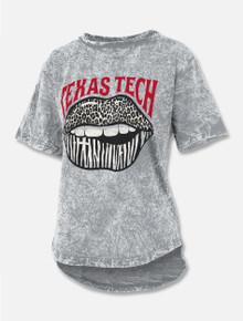 "Press Box Texas Tech Red Raiders ""Wild Lips"" Mineral Wash Hi Low T-Shirt"