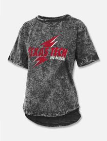 "Press Box Texas Tech Red Raiders ""Glam Rock"" Mineral Wash Hi Low T-Shirt"