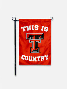 """Texas Tech Red Raiders """"This is Double T Country"""" Garden Flag"""